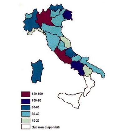 Diffusione Radon Italia